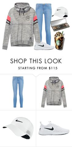 """""""simple PINK"""" by alexislynea-804 ❤ liked on Polyvore featuring Current/Elliott, Victoria's Secret, NIKE and Urban Decay"""