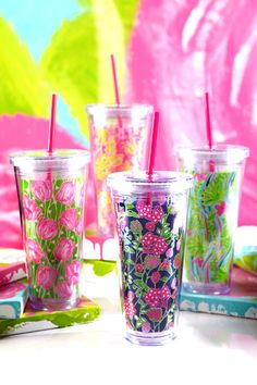 Lilly Pulitzer Eco Friendly Reusable cups, $14.95 at Preppy Princess this August. #LillyPulitzer #preppy