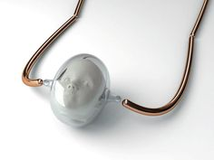 HUMAN MILK CAMEO NECKLACE by Cécile Fricker Lehanneur, France