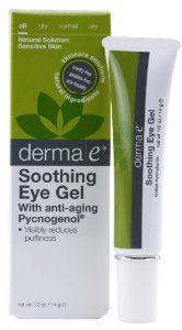 derma e Pycnogenol Eye Gel with Green Tea Extract, 0.5 oz (14 g) (Pack of 2),$26.83