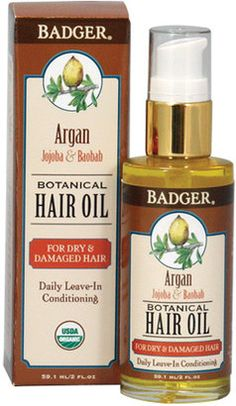 c8720c8d28ae Badger Organic Argan Hair Oil by 2oz Oil