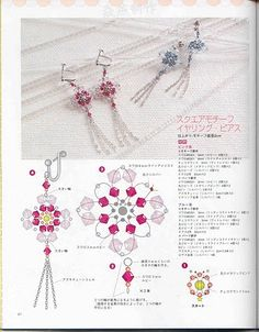 How to make earrings | Blog Guidelines;  link broken (looks like 3mm & 4mm bicones, 11's and 15's ???)