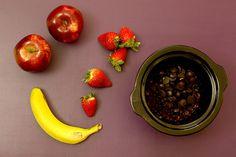 Crockpotting   Fondue de chocolate con frutas en Crock Pot   http://www.crockpotting.es #crockpot #slowcooker #chocolat #chocolate #food #comida #recetas #recipes