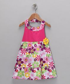 Take a look at this Fuchsia & Purple Flower Halter Dress - Infant & Toddler by Lilybird on #zulily today!