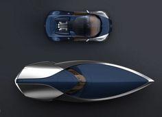 Bugatti Veyron Sang Bleu Speedboat By Ben Walsh