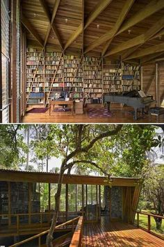 Beautiful Private and Personal Libraries That's a library! An idyllic private library in a home designed by Gianni Botsford, Cahuita, Costa RicaThat's a library! An idyllic private library in a home designed by Gianni Botsford, Cahuita, Costa Rica Library Room, Dream Library, Library In Home, Reading Library, Music Library, Beautiful Library, Beautiful Homes, Future House, My House