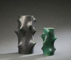 Knud Basse for Michael Andersen. Two Rose Thorns vases