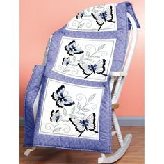 JANLYNN-Stamped Embroidery. This kit offers hours of entertainment and the end result will be a beautiful and brightly colored design. This package contains six screen printed 18x18 inch broadcloth bl