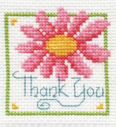 "Bucilla ® Counted Cross Stitch - Beginner Stitchery - Mini - Thank You    Size: 2"" x 2"""