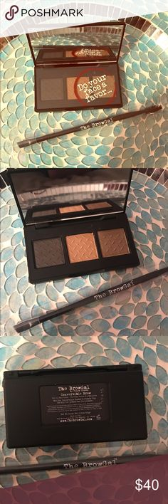The BrowGal Ultimate Brow Set  Do you love a beautifully shaped brow and want to try something different? This set is a fabulous alternative to the everyday brow pencil. The Convertible Brow Powder and Pomade Duo Eyebrow Palette. Universal shade. Absolutely amazing! Use dry for powder, wet for pomade! It's like having 6 different brow products in one Please see photos and BrowGal website for all the info you need! $35  The BrowGal Brow brush, dual ended Spoolie and Angled Brush. $14 $49…
