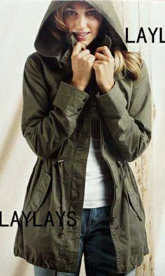 europea de estilo marino del ejército verde con capucha zanja de carga para abrigos mujer primavera 2014 slim fit más el tamaño de los abrigos con capucha