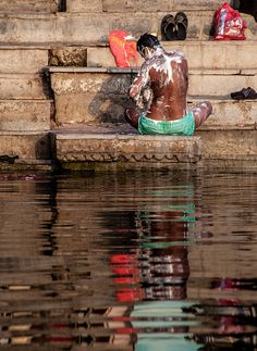 Morning Bath, Ganges, India