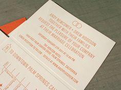 Mid-Century Modern Typographic Wedding Invitations