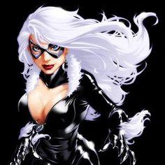 79 meilleures images du tableau black cat black cat marvel black cats et gatos - Femme chat manga ...