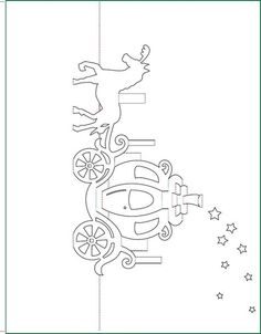 ... Cinderella Carriage Pop-Up Card Free Paper Craft Template Download