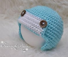 Check out this item in my Etsy shop https://www.etsy.com/listing/542474413/crochet-baby-aviator-hat