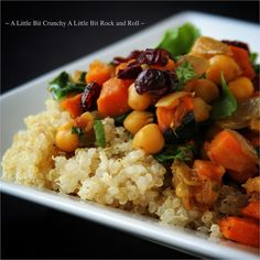 A Little Bit Crunchy A Little Bit Rock and Roll: Curried Quinoa with Sweet Potatoes and Spinach