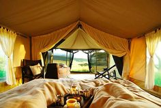 Tent interior | #tent #glamping @GLAMPTROTTER