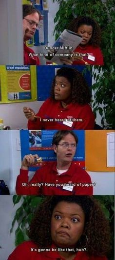 Dwight Schrute - The Office Best Tv Shows, Best Shows Ever, Favorite Tv Shows, Parks N Rec, Parks And Recreation, Image Hilarante, Office Jokes, The Office Show, Dunder Mifflin