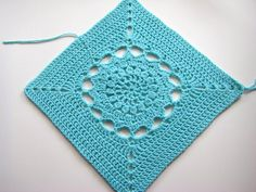 """Free Ravelry: Project Gallery for Starfire - 12"""" square pattern by Melinda Miller"""