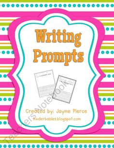 Writing Prompt Freebie : )  product from Kinderbabies on TeachersNotebook.com