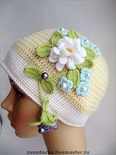 [Pinterest] 여름모자 : 네이버 블로그 Crochet Kids Hats, Crochet Baby, Free Crochet, Knitted Hats, Knit Crochet, Crochet Stitches, Crochet Patterns, Cute Hats, Hat Hairstyles
