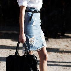 oh my this denim skirt.
