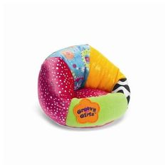 "A perfect place for your Groovy Girls to flop after homework or sports. Designed with the dazzling details you'd expect, our beanbag chair is sure to have your doll sitting pretty. Fits 13"" Groovy girl doll (sold separately)"