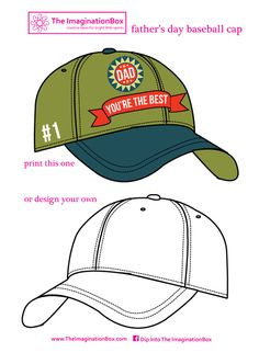 design a father's day baseball cap, free printable for bunting, card making