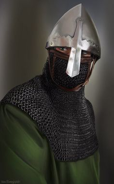 Gaelic/Norse Sea Raider by JLazarusEB on DeviantArt Medieval World, Medieval Knight, Medieval Armor, Medieval Fantasy, Armadura Medieval, Viking Armor, Arm Armor, Norman Knight, High Middle Ages