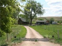 I love the property and the old wagon wheels and cattle crossing in driveway