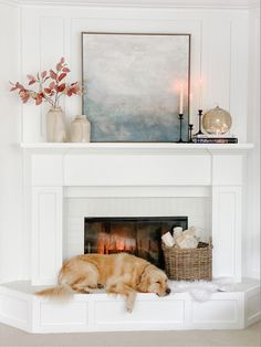 Fall Fireplace Decor, Fireplace Mantle, Fireplace Ideas, Home Living Room, Living Room Decor, Fall Home Decor, Coastal Fall, Super Excited, Home Kitchens