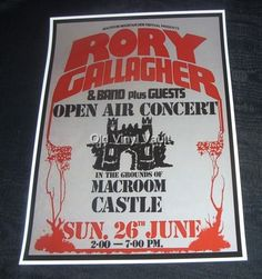 Rory Gallagher Poster (Macroom 77)
