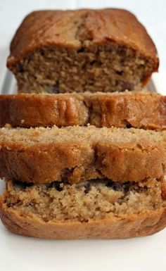 Pear and banana loaf - I added pecans, yummy!