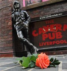 ~Statue of John Lennon on Mathew Street, Liverpool near to the Cavern Club~