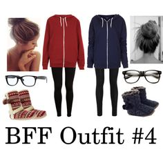 best friend outfits♥ totally good for slumin it ;)