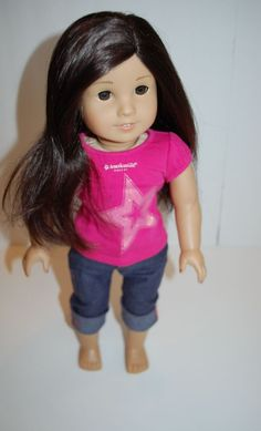American girl doll just like you #30 dark brown hair, brown eyes, layers   Dolls & Bears, Dolls, By Brand, Company, Character   eBay!
