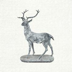 RIGHT ZINC STANDING DEER | Arhaus Furniture