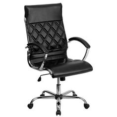 Flash Furniture Adjustable High Back Executive Office Chair & Reviews | Wayfair