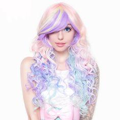 Rockstar Wigs Rainbow Rock Collection Hair Prism 2 Pastel Cosplay Wig