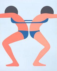 """Preview: Geoff McFetridge """"MEDITALLUCINATION"""" @ V1 Gallery, Copenhagen: ContinuousGirls.jpeg"""