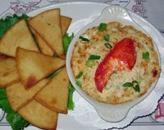 Baked Crab, Lobster and Artichoke Dip.    Chef Jeff White  Russ & Marie's Marconi Beach BBQ & Seafood Restaurant.
