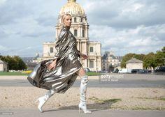 Tatiana Korsakova @ Nina Ricci S/S 2018. Ellery dress, Boots Aquazzura & Earrings by Loewe September 29, 2017 in Paris, France