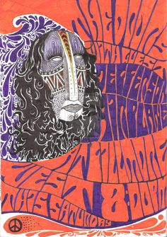 psychedelic art posters | psychedelic poster 1 by riote traditional art drawings psychedelic ...