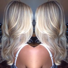 Platinum Blonde Balayage Hair Style Perfect For Long Or Short Hair.