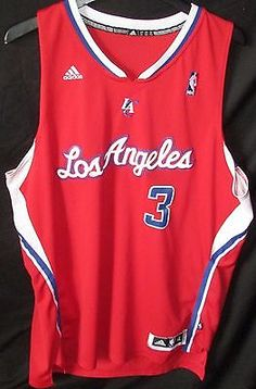Chris Paul ADIDAS Los Angeles Clippers XL Road (Red) Jersey #3 Unisex Adult