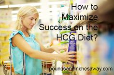 Ensure maximum success on the HCG diet with this great HCG article today! www.poundsandinchesaway.com