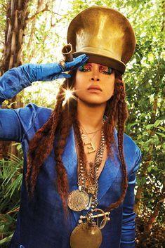 """BUST magazine's June/July 2018 cover story with Erykah Badu, in which she talks about aging, motherhood, and living """"one breath at a time"""""""