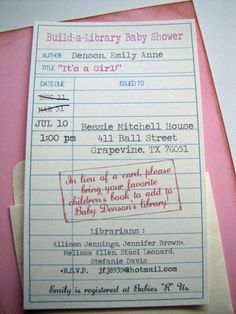 Love this idea, but the link will lead you to the longest thread about how this is or is not tacky lol I read it all, what a waste of time! And concluded baby showers include gifts, if someone chooses only to purchase a book that is their choice. Also, they could bring a used book that isn't being read anymore, which I would think was sweet, and not tacky.