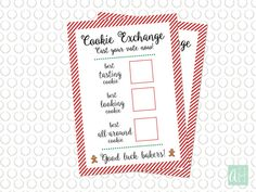 Cookie Exchange Recipe Card and Voting Ballot: by ArtfulHappiness